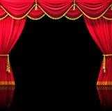 hänger upp gardiner teatern Royaltyfri Foto