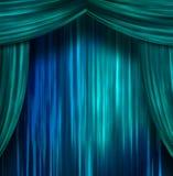 hänger upp gardiner teatern vektor illustrationer