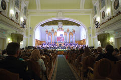 Hängiven stor festafton till den 100. årsdagen av denryss museumanslutningen Royaltyfri Fotografi