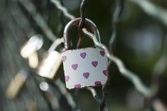 Hänglås som symboliserar evig förälskelse Royaltyfri Foto