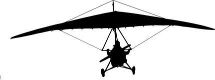 Hängning-glidflygplan royaltyfri illustrationer
