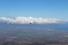Hängningglidflygplan på Maui Hawaii Arkivbilder