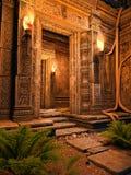 Hänrycka till ett tempel Arkivfoto