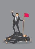 Hänsynslösa Victory Business Concept Vector Illustration royaltyfri illustrationer