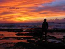 häpen solnedgång iii royaltyfri foto