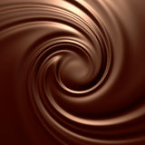 häpnadsväckande chokladswirl Arkivfoton