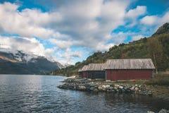 Häpnadsväckande norsk natur Fotografering för Bildbyråer