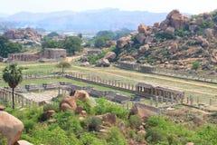 Häpnadsväckande och enorm Hampi UNESCOvärldsarv Karnataka Arkivbild