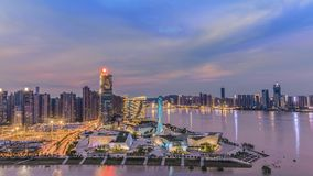 Här är den Beichen deltan i Changsha, Hunan arkivfoto