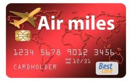 Här är en kreditkort för belöning för luftmil royaltyfri illustrationer