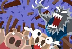 här liten pigskörningswolf Royaltyfria Bilder