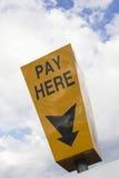 här paytecken Royaltyfri Foto