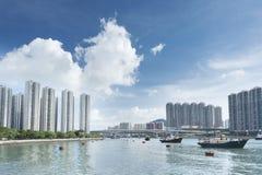 härbärgera Hong Kong Royaltyfri Fotografi