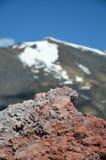 Härdad lava av Mountet Etna Royaltyfri Bild