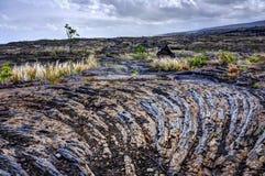 Härdad lava vaggar Arkivbild