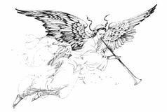 Härlig ängel med vingar vektor illustrationer