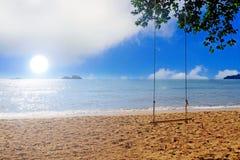 härlig ö för strand Royaltyfria Bilder