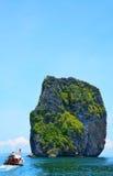 Härlig ö i Krabi Thailand Royaltyfri Bild