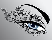 härlig ögonkvinna Arkivbild