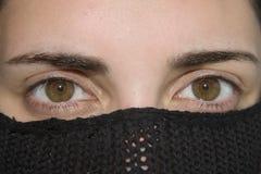 härlig ögonkvinnlig Arkivfoton
