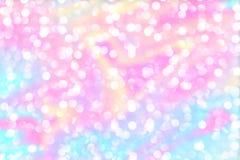 Härlig abstrakt bakgrund av ferieljusbokeh i moderiktiga färger arkivfoton
