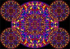 Härlig abstrakt bakgrund av kulöra trianglar befläckt exponeringsglas Royaltyfri Bild