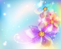 Härlig abstrakt bakgrund med blommor vektor illustrationer