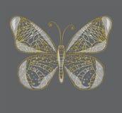 Härlig abstrakt fjäril. Arkivfoto
