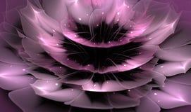 Härlig abstrakt fractalblomma med skinande detaljer på kronblad vektor illustrationer