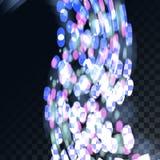 Härlig abstrakt genomskinlig glödande bokeheffekt med cirklar på ett genomskinligt mörker i en rutig svart bakgrund vektor illustrationer
