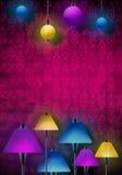 Härlig abstrakt plats med lampor stock illustrationer