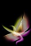 Härlig abstrakt sammansättning av krökt band Arkivfoton