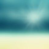 Härlig abstrakt strand och tropiskt hav Abstrakt sommar för suddighet Arkivbilder