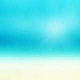Härlig abstrakt strand och tropiskt hav Abstrakt sommar för suddighet Royaltyfri Fotografi