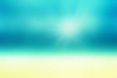 Härlig abstrakt strand och tropiskt hav Abstrakt sommar för suddighet Royaltyfria Foton