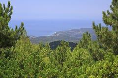 Härlig Aegean kust Arkivbilder