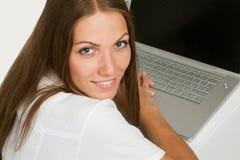 härlig affärscloseupkvinna Fotografering för Bildbyråer