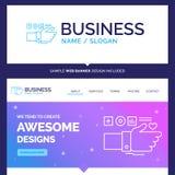 Härlig affärsidémärkesnamnövervakning, teknologi, Fi stock illustrationer