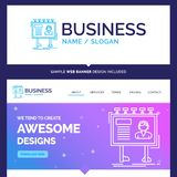 Härlig affärsidémärkesnamnannonsering som annonserar vektor illustrationer