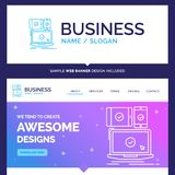 Härlig affärsidémärkesnamndator, apparater, mobil vektor illustrationer