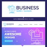 Härlig affärsidémärkesnamnshopping som är online-, ecommerc royaltyfri illustrationer
