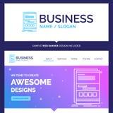 Härlig affärsidémärkesnamnwebbläsare som är dynamisk, internet royaltyfri illustrationer