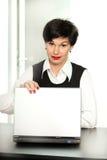härlig affärskvinna Arkivfoto