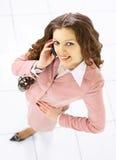 härlig affärskvinna Royaltyfria Foton