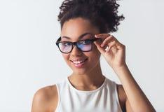 Härlig Afro--amerikan flicka Royaltyfri Fotografi
