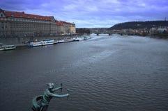 Härlig afton Prague Royaltyfri Foto