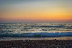 Härlig afton vid havet Montenegro royaltyfri foto