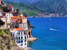Härlig Amalfi kust Arkivfoto