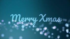 Härlig animering för glad jul med suddiga bubblor background card congratulation invitation vektor illustrationer