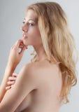 Härlig antydd topless kvinna Royaltyfria Foton